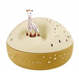 Projecteur d'Etoiles Musical Sophie la Girafe jaune Trousselier