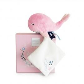 """Baleine rose & doudou """"Sous l'océan"""" Doudou & Compagnie"""
