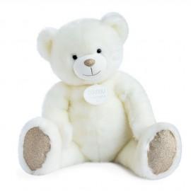 Peluche géante ours blanc poudré Doudou et Compagnie (80cm)