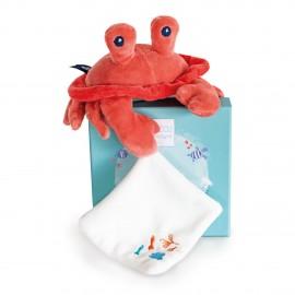 Crabe avec doudou Sous l'océan Doudou & Compagnie