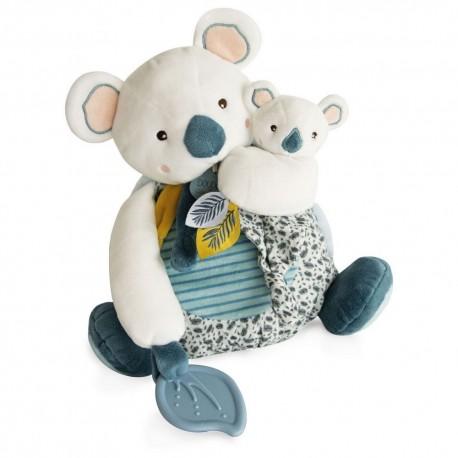 Yoca le Koala avec bébé et anneau de dentition Doudou & Compagnie