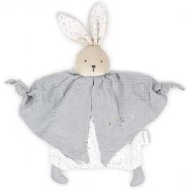 Doudou lapinou gris coton bio Kaloo
