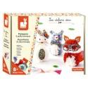 Pompons 3 petits animaux Kit créatif Janod