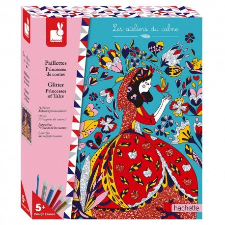Paillettes Princesses de contes Kit Créatif Janod