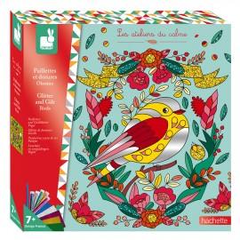 Paillettes et dorures Oiseaux Kit Créatif Janod