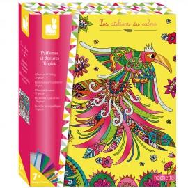 Paillettes et dorures Tropical Kit Créatif Janod