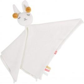 Doudou bio en tricot Lama blanc Kikadu