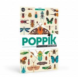 Poster géant et 44 stickers insectes Poppik