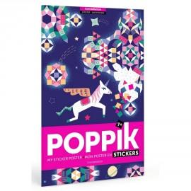 Poster géant et 10000 stickers Constellations Poppik