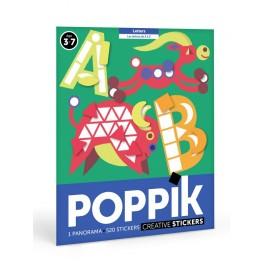 Poster et 520 gommettes Les lettres Poppik