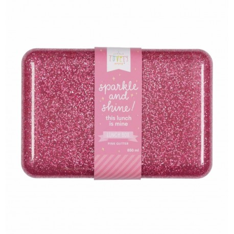 Lunch box Paillettes rose A Little Lovely Company