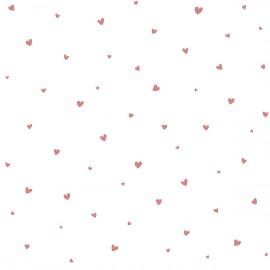 Papier peint Jolis coeurs roses Lilipinso (50m x10m)