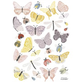 Stickers Papillons et insectes Lilipinso
