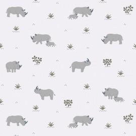 Papier peint Rhinocéros Lilipinso