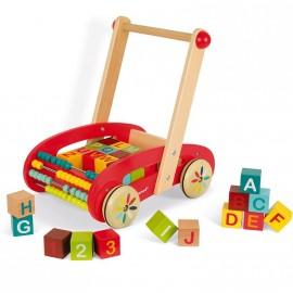 ABC Buggy Chariot de Marche Avec Cubes par Janod