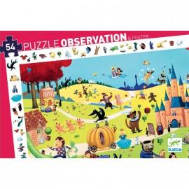 Puzzle d'observation contes 54 pièces Djeco