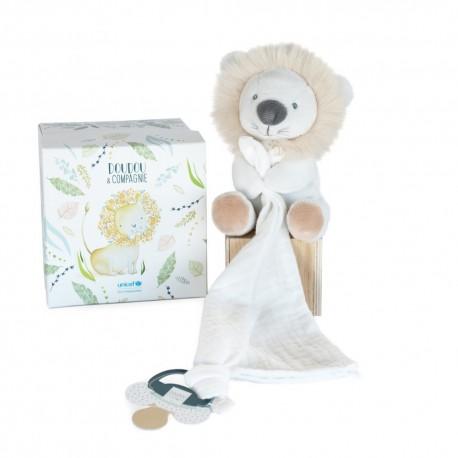Unicef Doudou avec attache sucette Lion Doudou et Compagnie