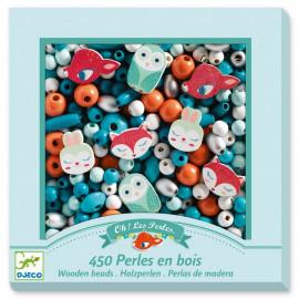 450 Perles en bois petits animaux Djeco
