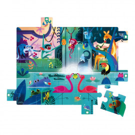 Puzzle Surprise Festin dans la Jungle 20 pcs Janod