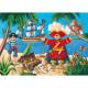 Puzzle Silhouette Le pirate et son trésor 36 pièces Djeco