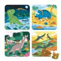 4 Puzzles évolutifs Dinosaures Janod