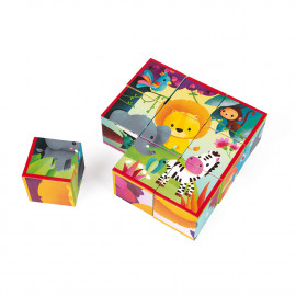 9 cubes Kubkid animaux de la jungle Janod