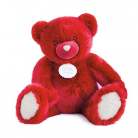 Ours collection Rouge baisser XXL Doudou et Compagnie (80cm)
