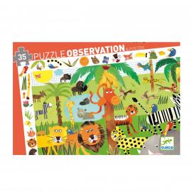 Puzzle d'observation La jungle Djeco (35 pièces)