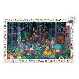 Puzzle d'observation Forêt enchantée Djeco (100 pièces)