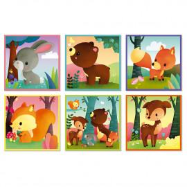 Kubkid  Malette 9 Cubes Animaux de la Forêt par Janod