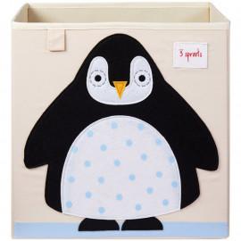 Cube de rangement jouets Pingouin 3 sprouts
