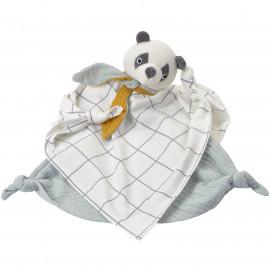 Doudou lange coton bio Panda Kikadu