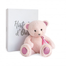 Peluche Ours Charms Rose sorbet Histoire d'Ours (40cm)