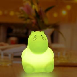 Petite veilleuse silicone USB Hippopotame Lights 4 Kids