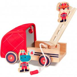 Camion de pompier et figurines en bois Lilliputiens
