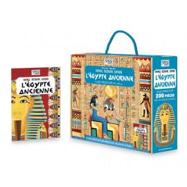 Coffret livre et puzzle Egypte ancienne Sassi