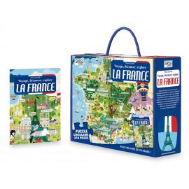 Coffret livre et puzzle La France Sassi