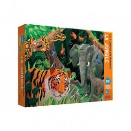 Puzzle La planète en danger La jungle avec livret Sassi