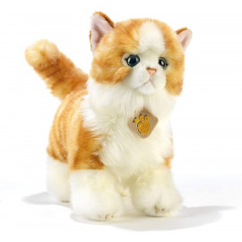Peluche chat roux et blanc Plush and Company (28 cm)