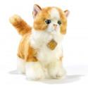 Peluche chat roux et blanc Plush and Company (28 cm)