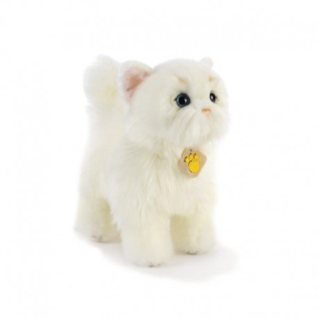 Peluche chat blanc Plush and Company (28cm)