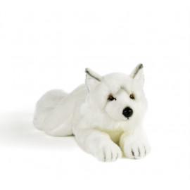 Peluche loup blanc Plush and Company