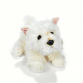 Peluche chien westie Plush and Company