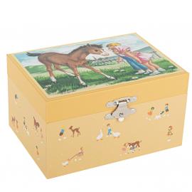 Boîte à musique Jeune cheval mémoire d'enfance Trousselier
