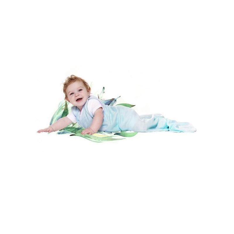 gigoteuse t mousseline bleu wallaboo 6 12 mois une cuill re pour doudou. Black Bedroom Furniture Sets. Home Design Ideas