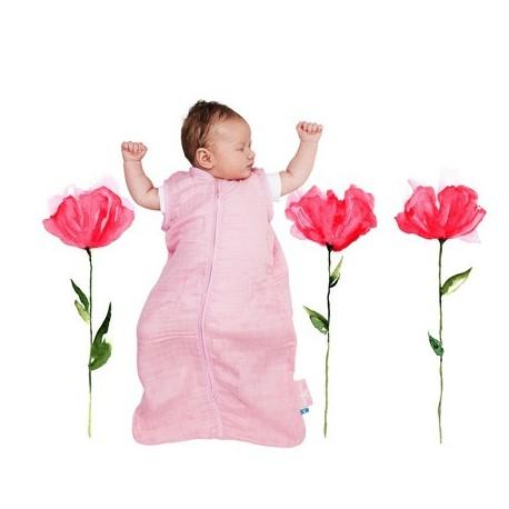 Gigoteuse Légère en  Mousseline Rose Wallaboo 6/12 mois