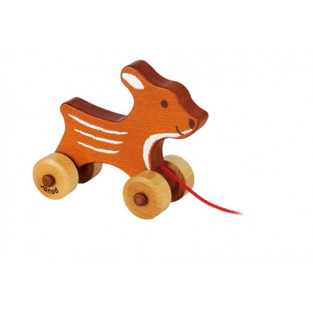Caramba le petit faon en bois teinté  par Janod