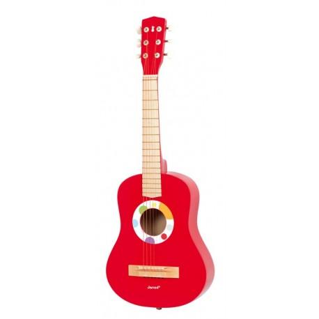 Grande Guitare Rouge Confetti Janod