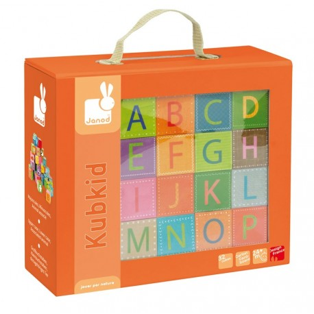 Kubkid-32 Cubes Alphabet Janod