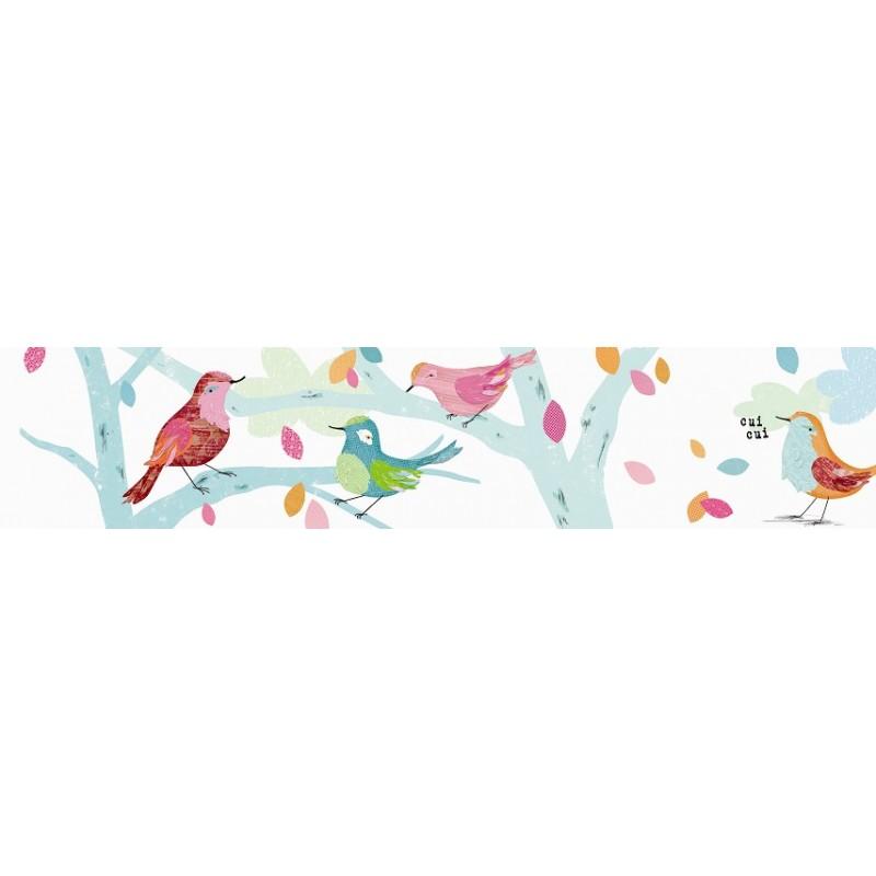 Frise adh sive les oiseaux d 39 abbie rose - Frise murale chambre fille ...